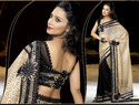 Black Sensational Charming Designer Sarees