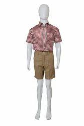学校衬衫夏季初中男生制服,尺码:中号