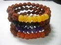 Rudraksha Bead With Gemstone Stretchable Bracelet
