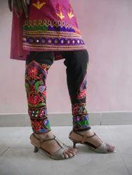 Laboni Handicrafts Multicolor Embroidered Leggings