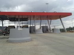 Toll Plaza Canopy Including Roofing Fabrications