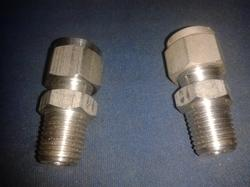 Silver Stainless Steel Male Connector