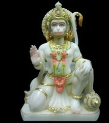 Marble Hanumanji Amp Ram Darbar Ashirwad Hanumanji