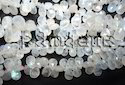 Rainbow Moonstone Faceted Pear Briolette Beads Gemstones