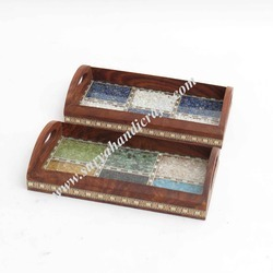 Wooden Stone with 2 Set