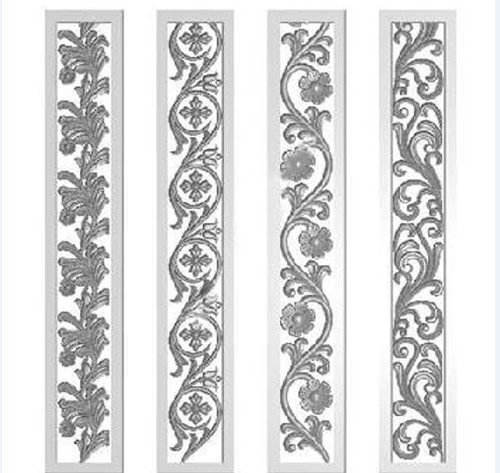 Patterns for wood carving diy shelves on brick wall with