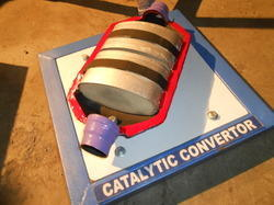 Cut Section Model of Catalytic Converter
