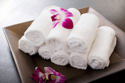 Towtex White Terry Face Towel For Hotels, 250-350 GSM