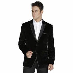 Black Plain Mens Business Suit