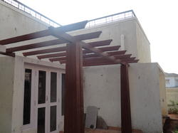 Wooden Pergola with Pillar