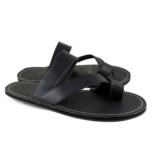 ceef0a1bd4b Mens Leather Slipper - Leather Black Slippers Manufacturer from Kanpur
