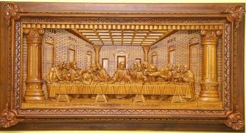 Last supper u d relief woodcarving u tavenwood