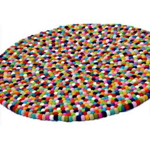 Women S Company Multi Wool Felt Ball Rug