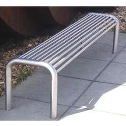 Silver Stainless Steel Benches