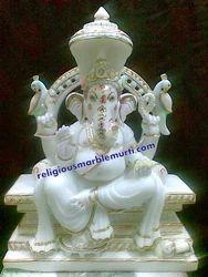 White Marble Murti Ganesh