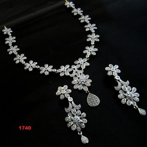 Ad Necklace Set At Rs 1740 Piece American Diamond Necklace Set Id 4149802312