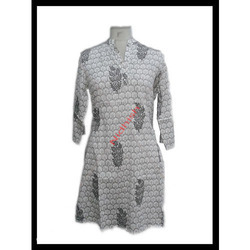 Hand Block Fashionable Kurti