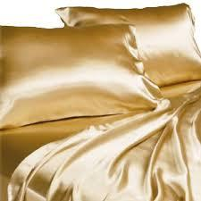 Charmant Fitted Sheet Satin Silk Solid