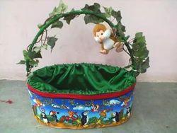 decorative cane baskets decorative monkey basket bas002 manufacturer from new delhi - Decorative Baskets