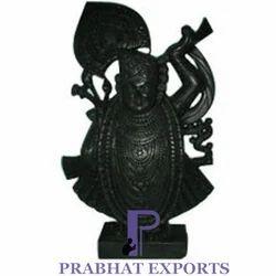 Prabhat Black Marble Shrinathji Statue, Indoor, for Worship
