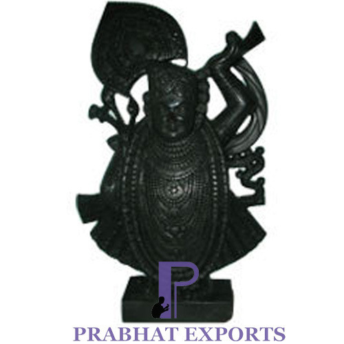 Black Marble Shrinathji Statue