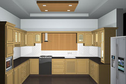 Kitchen cabinets in kerala thrissur for Aluminium kitchen cabinets kerala