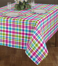 Box Checked Printed Table Cover