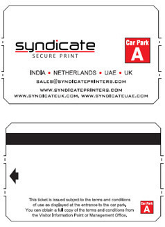 Pay-On-Foot (POF) Parking Tickets - Syndicate Printers