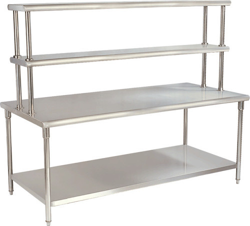 Work Table With Over Head Shelfs at Rs 24500 /piece   Ss Work Tables ...