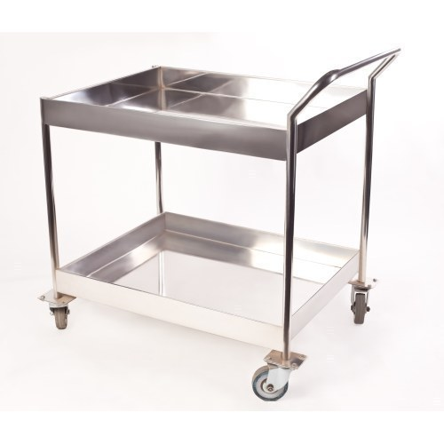 Silver Stainless Steel Kitchen Trolley