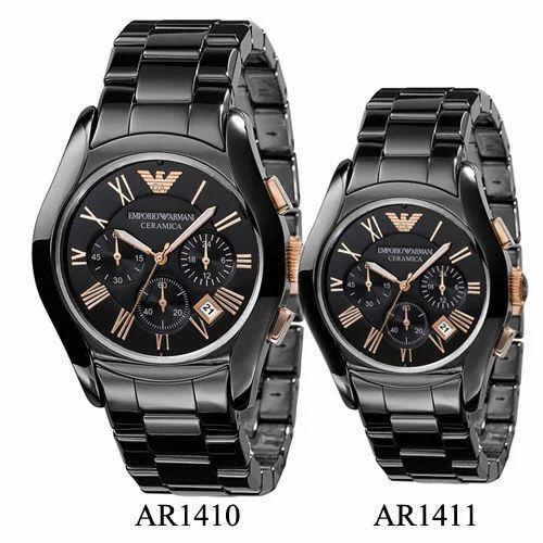 7db7213f13cd5 Emporio Armani Ar1410 1411 Chronograph Pair Wrist Watch - Waho World ...