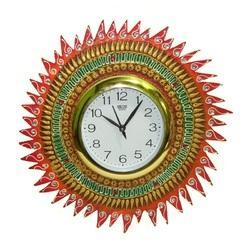 MDF Wood Wall Clock - Sun Clock for Home, Size: 35x35 Cm