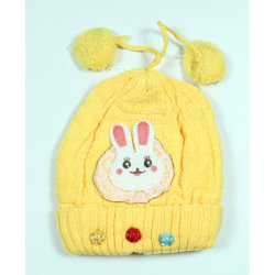 Yellow Kids Winter Cap