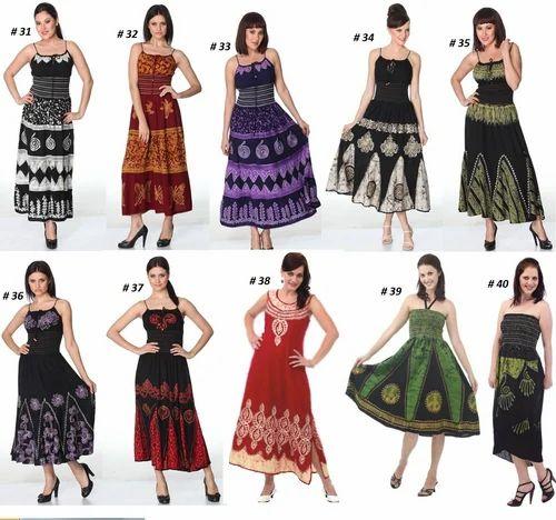 Women Multicolor Batik Tie Dye Dress, Rs 320 /piece, Riya