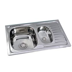 One And Half Bowl With Drain Board Stainless Steel Kitchen Sink