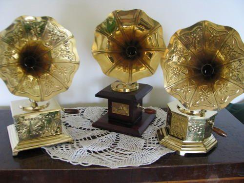 Brass Mini Gramophone Musical Equipment Accessories Meenakshi