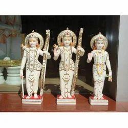 White Marble Ram Darbar God Statue