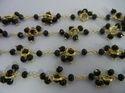 Black Onyx Gemstone Flower Chain