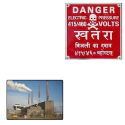 Warning Aluminum Labels For Factories