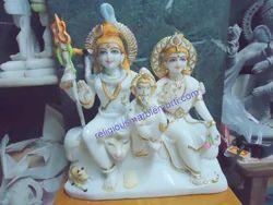 Idols Shiva Parvati Ji Marble Statue
