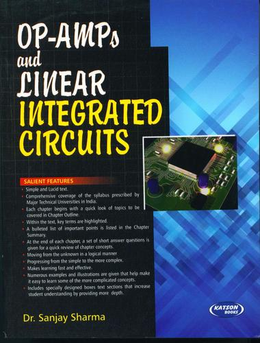 Op Amps and Linear Integrated Circuits Books - S  K  Kataria & Sons