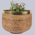 Egg Shape Wicker Planter Basket