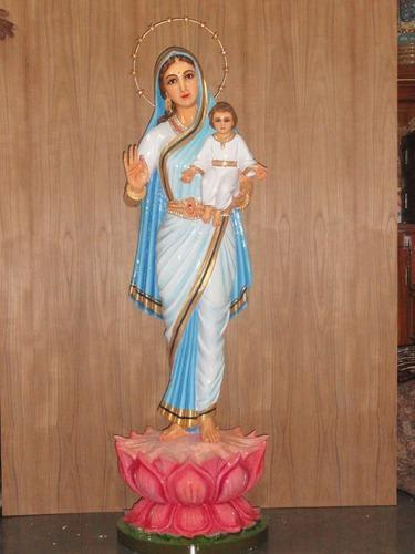 wooden and fiber mother mary statue at rs 10000 onwards religious