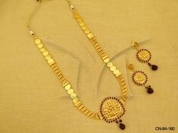 Laxmi Ji Pendant Temple Jewellery Necklace