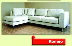 Romeo Cushioned Sofa Set