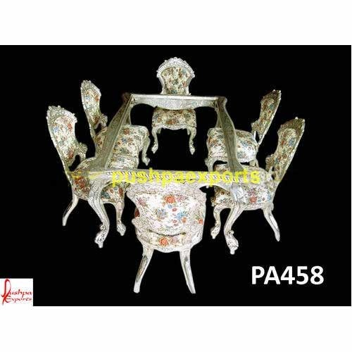 Carved Dining Table Silver Dining Set Manufacturer From