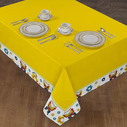 Yellow Airwll Table Cloth, Size: 140 X 180 cm