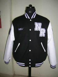 Black White Classic Varsity Jacket - Plain