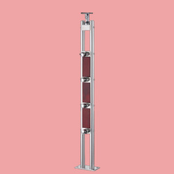 SS-04D Wooden And Steel Stair Baluster