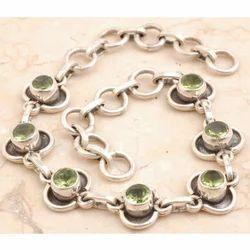 Peridot Sterling Silver Bracelet